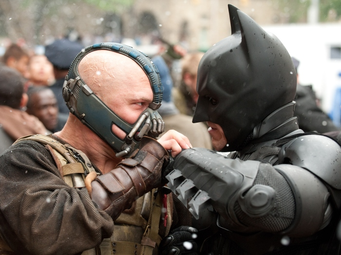 Batman vs. Bane in The Dark Knight Rises