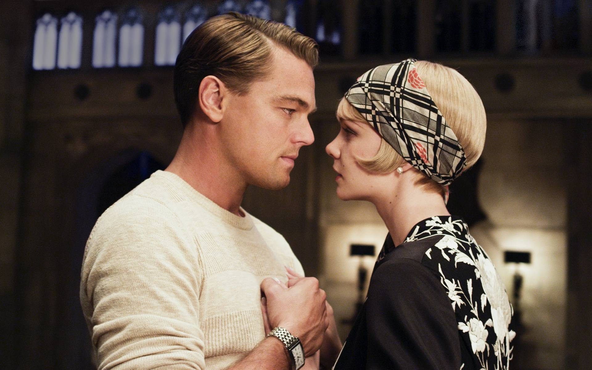 Leonardo DiCaprio and Carey Mulligan in The Great Gatsby