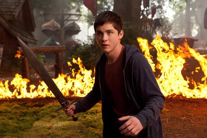 Logan Lerman in Percy Jackson 2