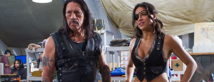 Danny Trejo and Michelle Rodriguez in Machete Kills