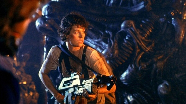 Sigourney Weaver as Ripley in Aliens