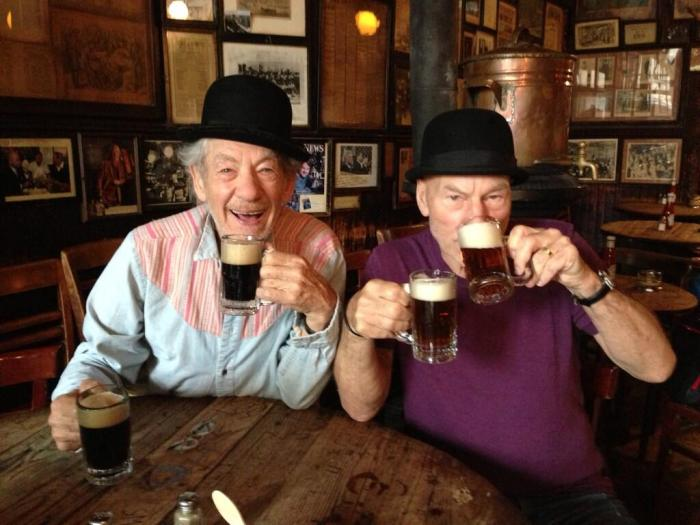 Ian McKellen & Patrick Stewart are the coolest best friends ever.