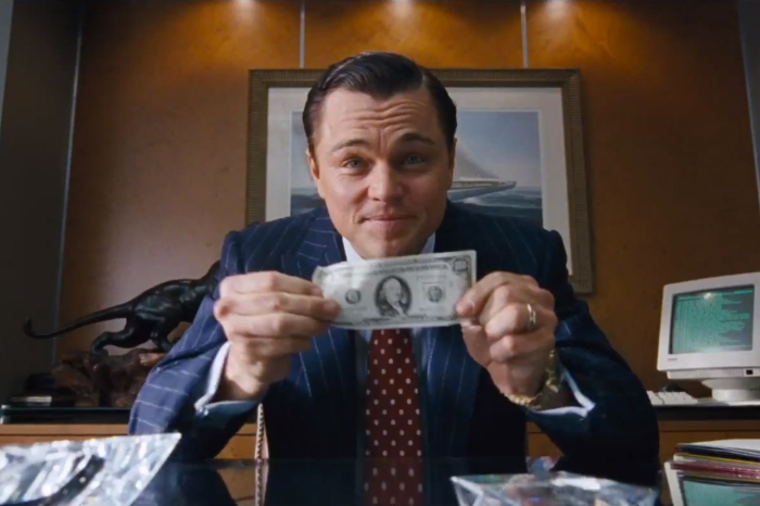 Leo DiCaprio in Wolf of Wall Street