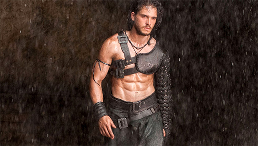 Kit Harington as Celt in Pompeii