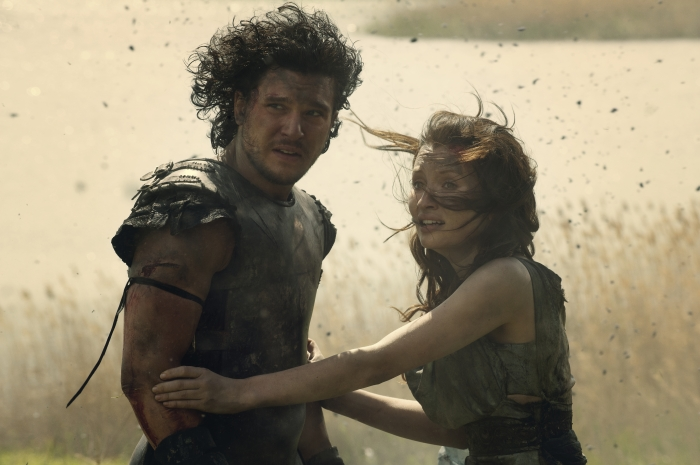 Emily Browning and Kit Harington