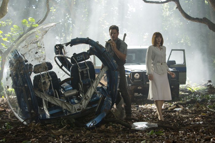 jurassic world - chris pratt and bryce dallas howard