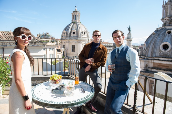 alicia vikander armie hammer and henry cavill in the man from uncle (2015)
