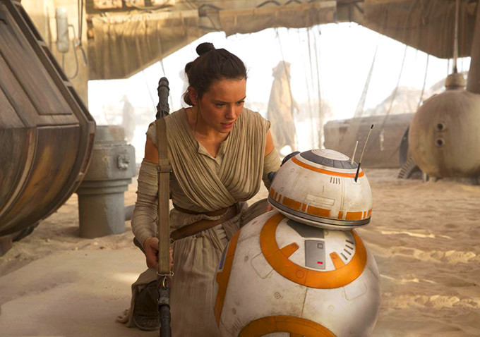 rey with bb-8