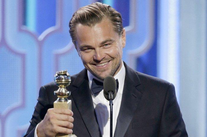 Leonardo DiCaprio at the 2016 Golden Globes