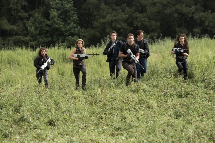 Movie still from The Divergent Series third installment, Allegiant
