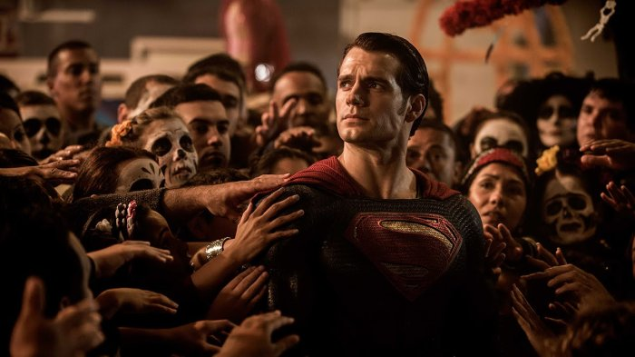 Henry Cavill as Superman in Batman v. Superman