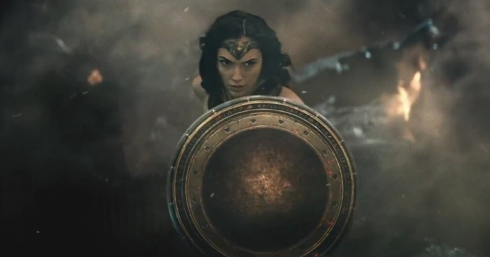 Gal Gadot as Wonder Woman in Batman v. Superman
