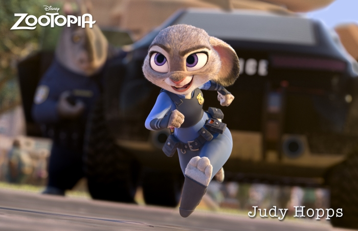 Ginnifer Goodwin as Judy Hopps in Disney's Zootopia