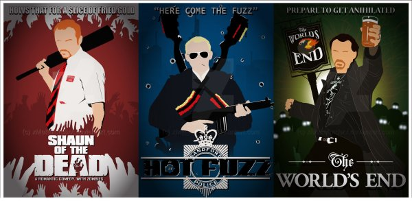 Poster of Edgar Wright's The Cornetto Trilogy