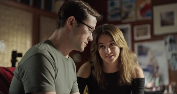 Joseph Gordon-Levitt and Shailene Woodley in Snowden