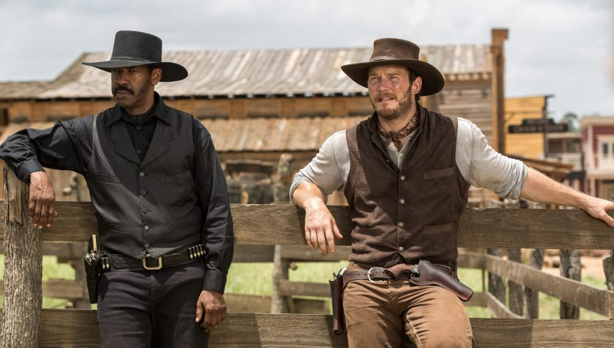 Denzel Washington, Chris Pratt in The Magnificent Seven (2016)