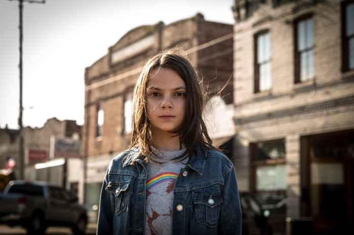 Dafne Keen as Laura in Logan (2017)