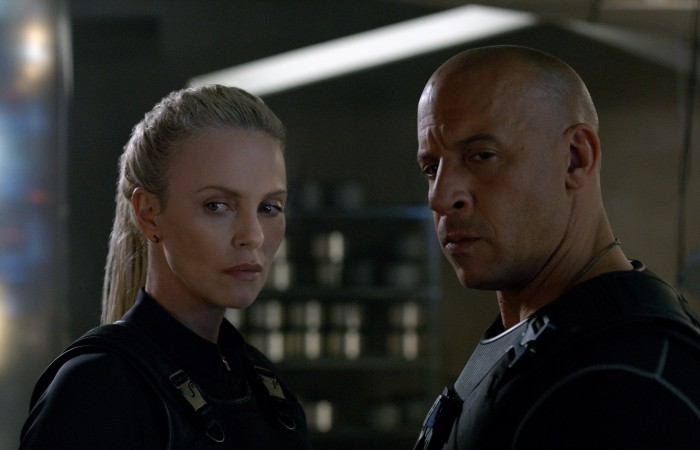 Charlize Theron and Vin Diesel in Fate of the Furious (2017)