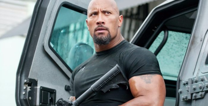 The Rock in Fate of the Furious