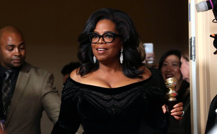 Oprah Winfrey at the Golden Globes 2018